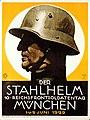 Hohlwein l Der Stahlhelm A1 GR C14-31-ONLINE Der Stahlhelm 10 · Reichsfrontsoldatentag München 1·u·2· Juni 1929 Bund der Frontsoldaten Ludwig Hohlwein Plakat Poster 1929 CC BY-SA 4.0.jpg