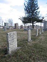 Some of the graves in the burial ground pre-date the 1874 Friends meeting house.