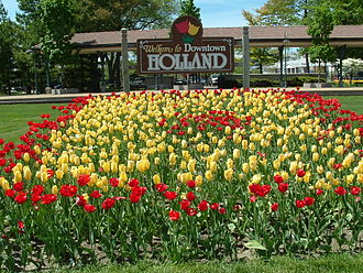 Holland, Michigan - Sign welcoming visitors