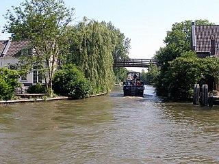 Hollandse IJssel river in the Netherlands