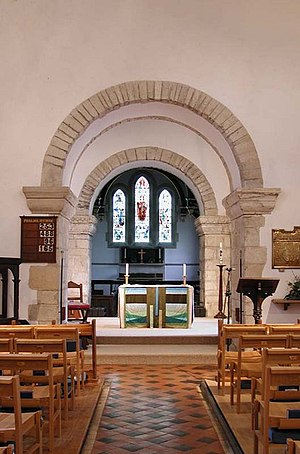 Holy Trinity Church, Weston - The altar in Holy Trinity church