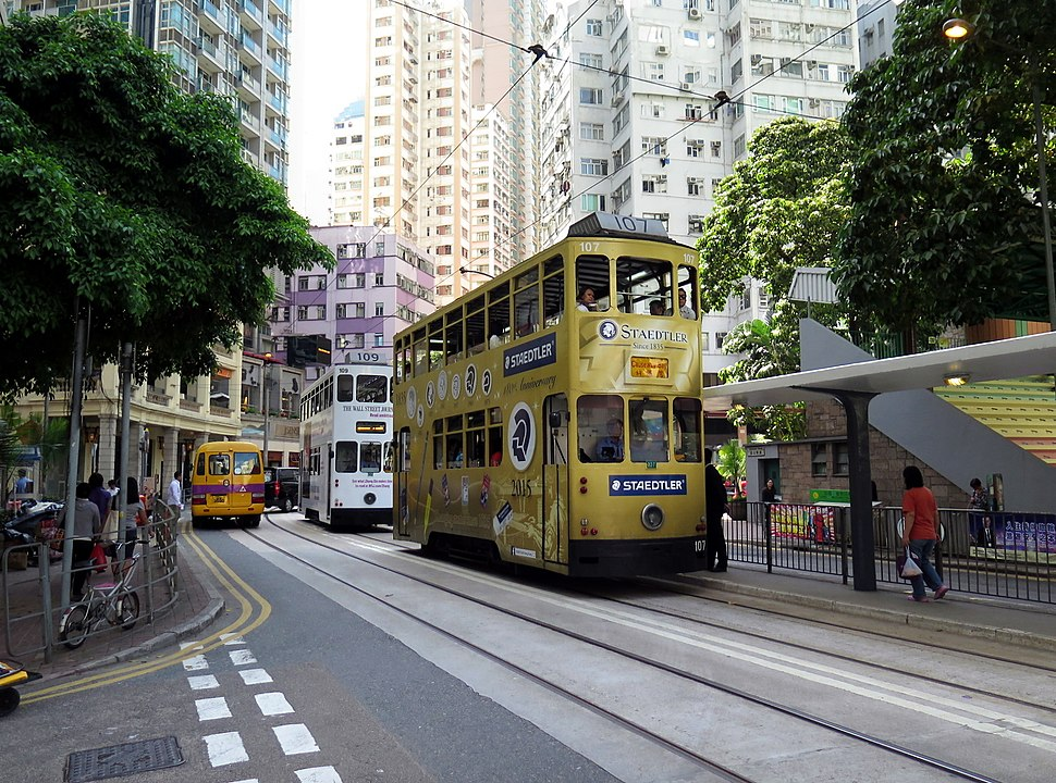 Hong Kong Tram in Johnston Road 2015