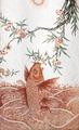 Hoppande karp och plommonblommor som är symboler för våren. Målat på porslin, 1723-1735, Yongzheng - Hallwylska museet - 107694.tif