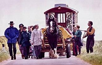 Horse and Bamboo Theatre - Image: Horse drawn theatre, Scotland