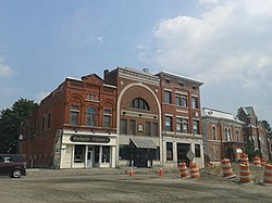 Buildings in Hudson Falls Historic District, July, 2014