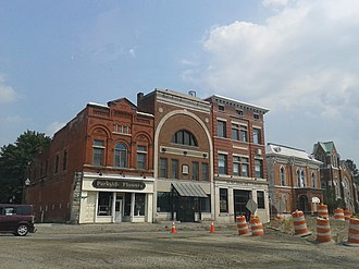Hudson Falls, New York - Buildings in Hudson Falls Historic District, July, 2014