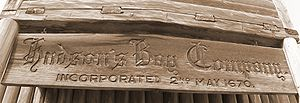 Logo on old fur trading fort