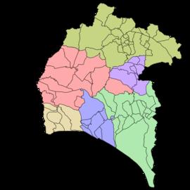 Mapa De Huelva Capital.Anexo Comarcas De La Provincia De Huelva Wikipedia La