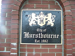 Hurstbourne, Kentucky - Image: Hurstbournesign