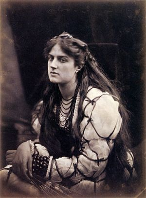 Hypatia - Julia Margaret Cameron's 1867 photograph, Hypatia