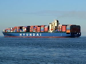 Hyundai Jakarta pA, leaving Port of Rotterdam, Holland 21-Feb-2005.jpg