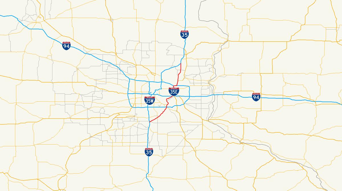 Interstate E Minnesota Wikipedia - Mn road map
