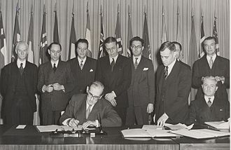 Whaling in Iceland - Signing the International Convention for the Regulation of Whaling, Washington, D.C. December 2nd, 1946