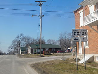 Detroit, Illinois - The junction of IL100 and IL106 in Detroit.
