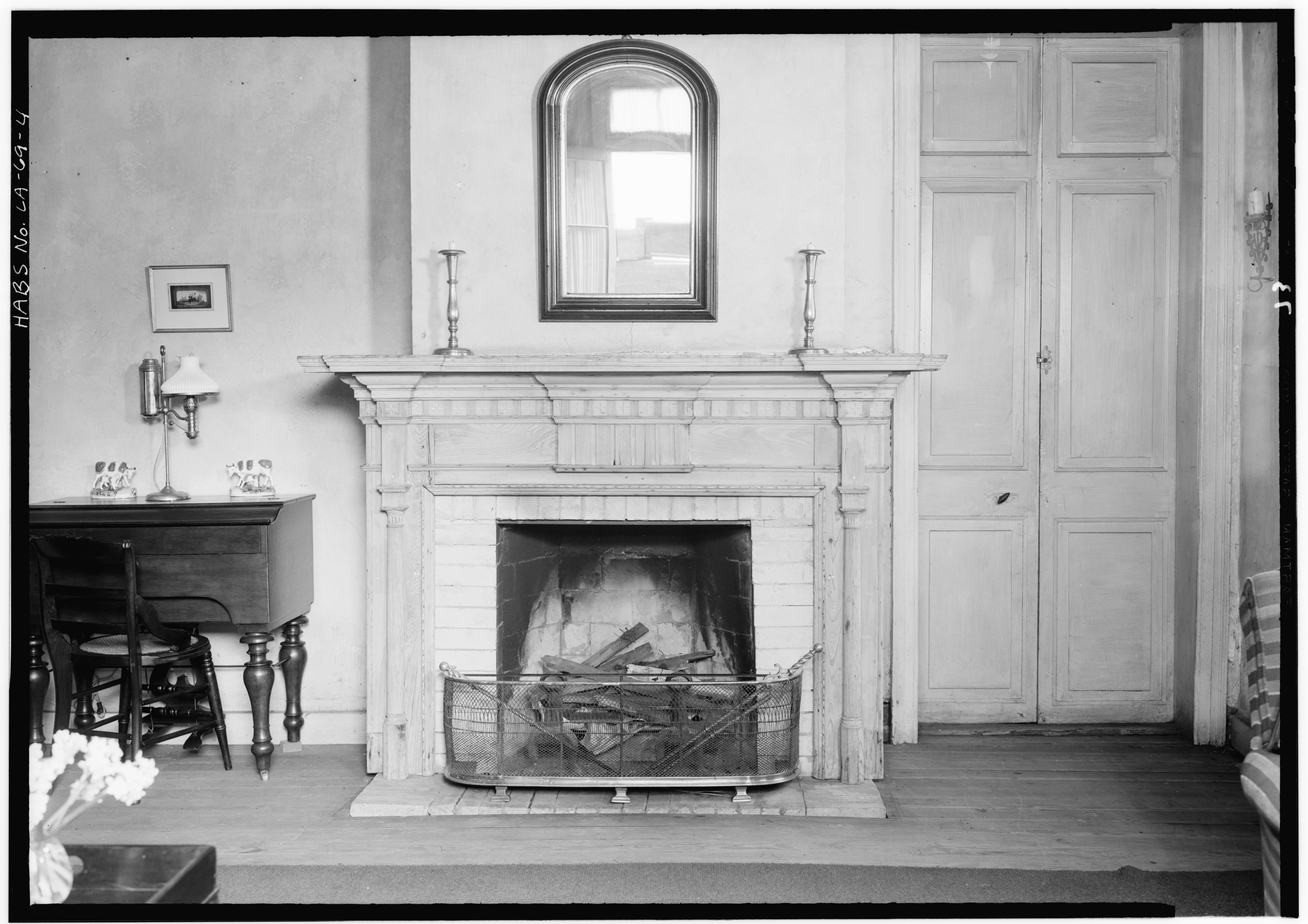 file interior fireplace gaillard house 915 917 saint ann street new orleans orleans parish. Black Bedroom Furniture Sets. Home Design Ideas