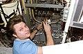 ISS-04 Yury I. Onufrienko performs maintenance on the Elektron Oxygen Generator.jpg