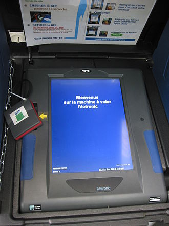Elections in France - Some French cities use voting machines.