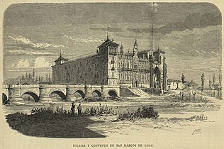 Iglesia y convento de San Marcos de León, en La Ilustración Católica