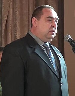 Igor Plotnitsky the Head of the unrecognised Luhansk Peoples Republic, in eastern Ukraine