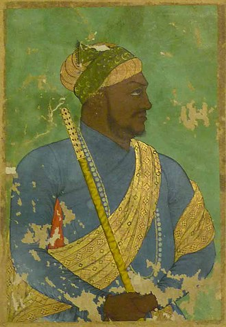 Siddi - Ikhlas Khan, African prime minister of Bijapur, c. 1650