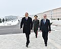 Ilham Aliyev attended opening of soldier dormitory and military-household complex in military unit of Detached Combined Arms Army 7.jpg