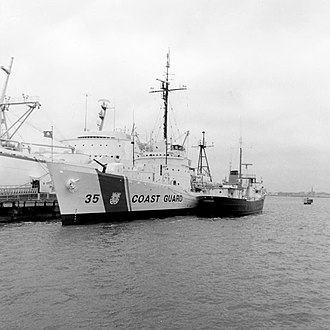 USCGC Ingham (WHEC-35) - Ingham at Patriots Point in 1990