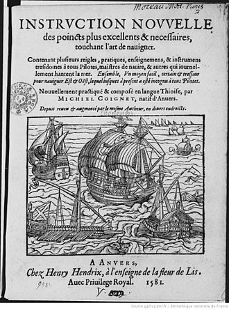 Michiel Coignet - Frontispiece of the Instruction nouvelle, 1581, Antwerp