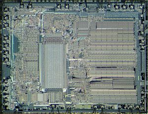 Intel 8087 - Die of Intel 8087.