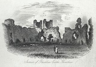 Interior of Rhuddlan Castle, Flintshire
