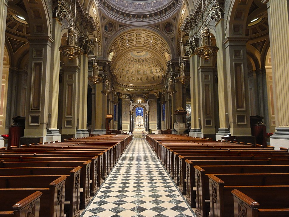 Interior of the Cathedral Basilica of Saints Peter and Paul