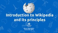 Introduction to Wikipedia and its principles. Online tutorial