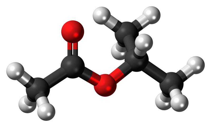 File Isopropyl Acetate 3d Ball Png Wikimedia Commons