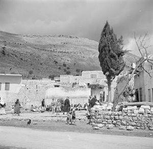 Majd al-Krum - Majd al-Krum and some of its residents soon after the village was captured by Israeli forces, 1948–1949