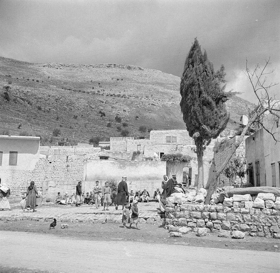 Israël 1948-1949; Mag-del-Krum. Het in Galilea gelegen dorp Mag-del-Krum, ook wel Majd al-Krum genoemd. 255-0124