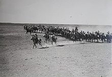 Ottoman cavalry unit during World War I frontal assault the Land of Israel