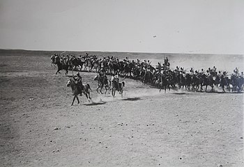 Israel in World War I - Ottoman cavalry unit during World War I frontal assault H OP 036.JPG