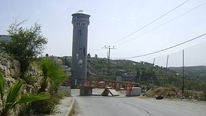 Palestinian freedom of movement - Roadblock at Beit Ummar, 2010