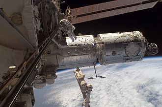 2007 in spaceflight - The newly installed Harmony node of the ISS
