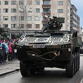 Itsenäisyyspäivän paraati 2015 20 Patria AMV.JPG
