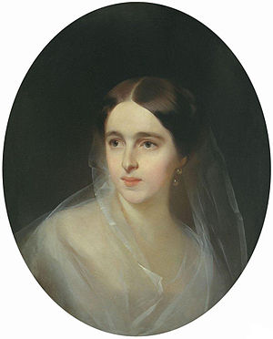 Natalia Pushkina - Natalia Nikolayevna Goncharova, 1849. Portrait by Ivan Makarov