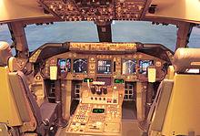 Cockpit 747 400