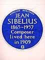 JEAN SIBELIUS 1865-1957 Composer lived here in 1909.jpg
