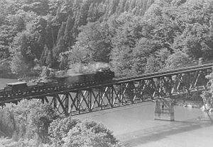 Tadami Line - C11 289 between Aizu-Miyashita and Aizu-Nishikata, November 1973