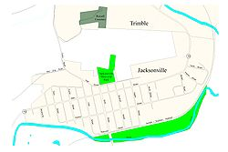 Street-level map of Jacksonville