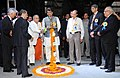 Jaipal Reddy lighting the lamp to inaugurate the 10th International Oil & Gas Conference and Exhibition - Petrotech-2012, in New Delhi. The Minister of State for Petroleum and Natural Gas and Corporate Affairs.jpg