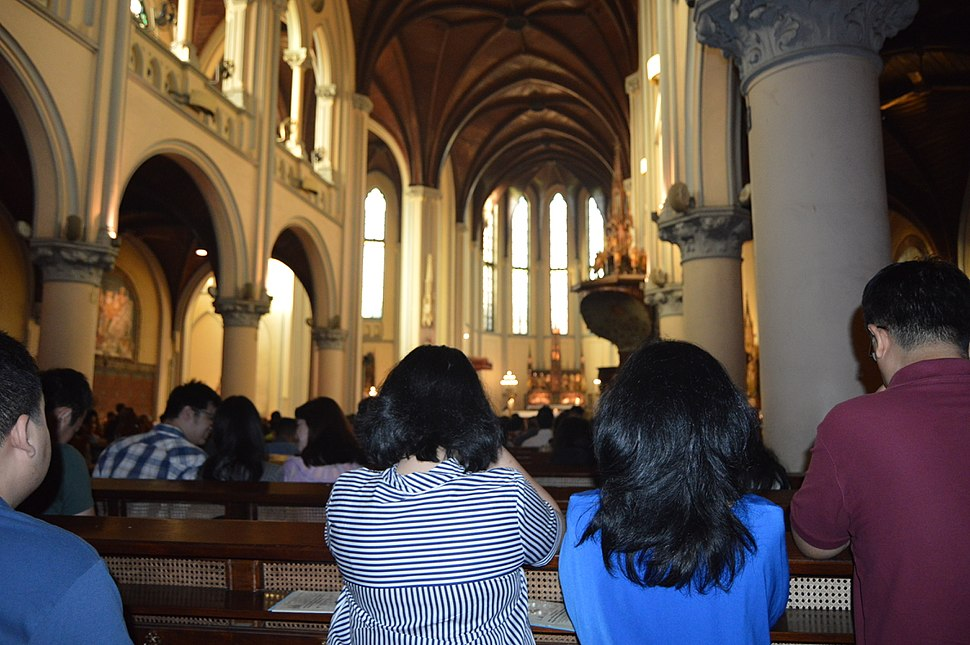 Jakarta Cathedral During Mass