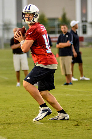 Jake Locker - Locker at Titans training camp in July 2012