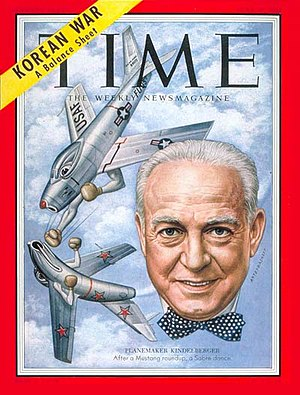 James H. Kindelberger - James H. Kindelberger on the cover of Time (June 29, 1953)
