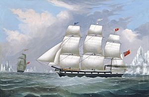 James H. Wheldon - Whaling Ships Diana and Anne in the Arctic.jpg