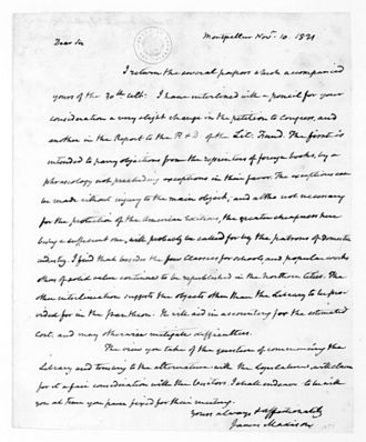 The Papers of James Madison - James Madison to Thomas Jefferson, 10 November 1821